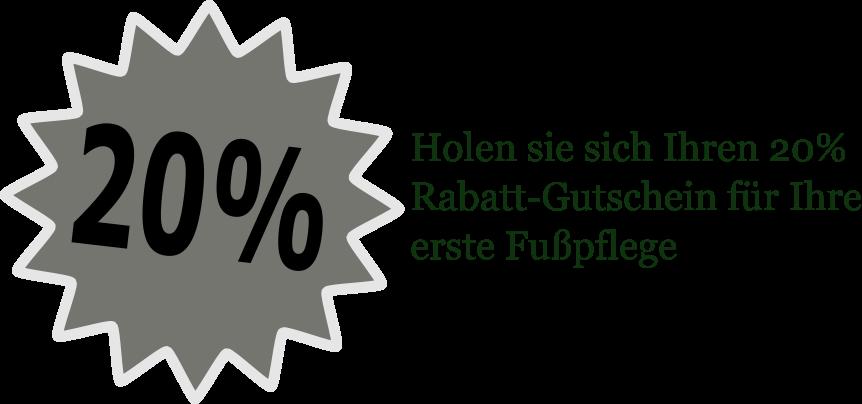 Podologie-Gutschein für die erste podologische Behandlung.